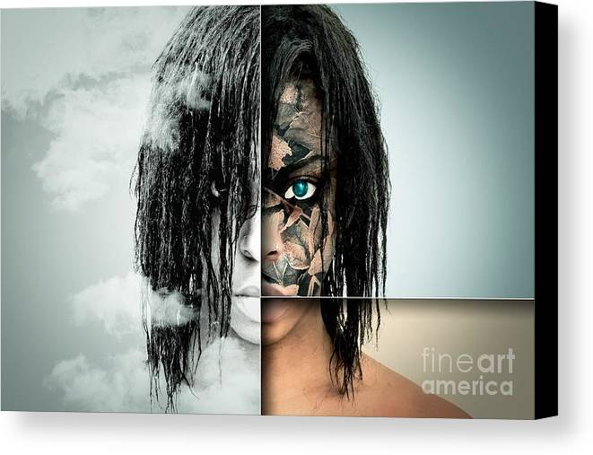 Canvas Print featuring the photograph The Other Half Of Me by Ad Salaheddine