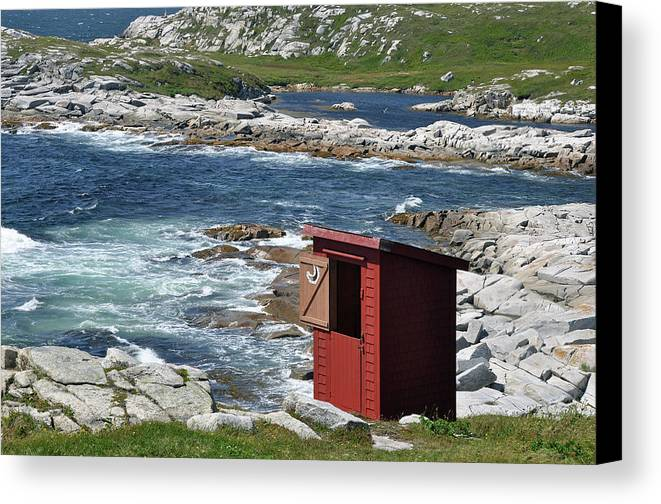 Outhouse Canvas Print featuring the photograph The Outhouse? by Colleen English