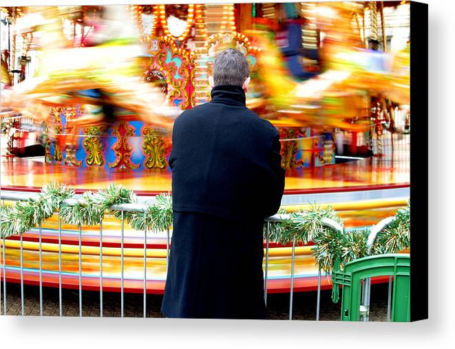 Jez C Self Canvas Print featuring the photograph The Patient Father by Jez C Self