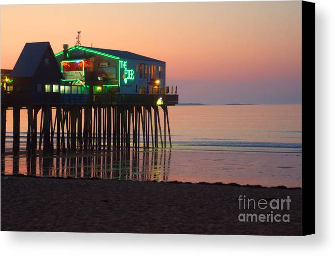 Pier Canvas Print featuring the photograph The Pier by Ray Konopaske
