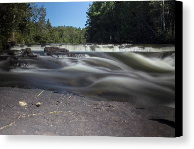 Waterfall Canvas Print featuring the photograph The River - Furnace Falls - Burnt River by Spencer Bush
