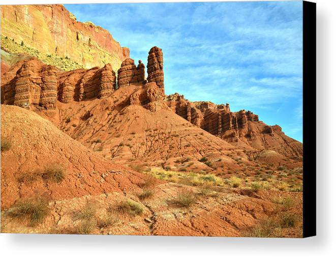Capitol Reef National Park Canvas Print featuring the photograph The Scenic Drive II by Ray Mathis