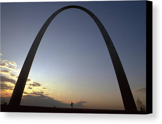 Landmark Canvas Print featuring the photograph The St. Louis Arch by Carl Purcell