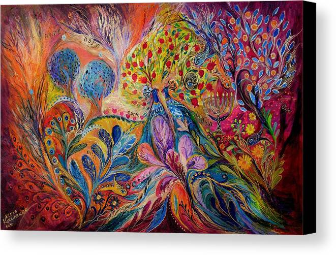 Original Canvas Print featuring the painting The Trees Of Eden by Elena Kotliarker
