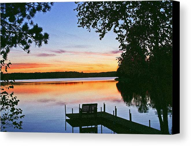 Sunset Canvas Print featuring the photograph Thinking Of You by Bill Morgenstern