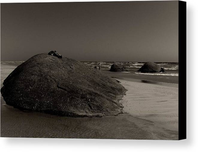 Three Granites Canvas Print featuring the photograph Three Granites by Win Naing