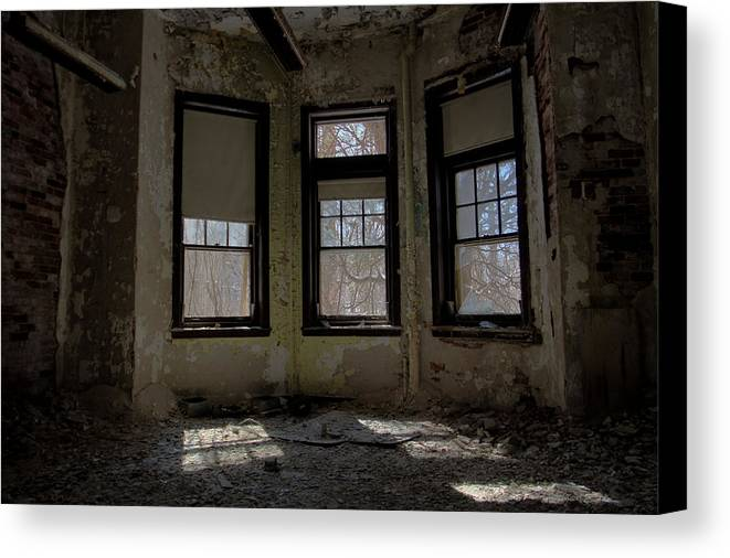Abandonment Canvas Print featuring the photograph Threefold by Kevin Brett
