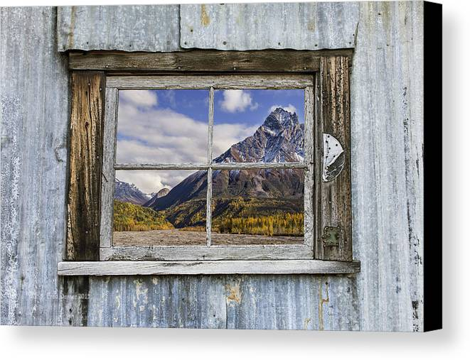 Window Canvas Print featuring the photograph Through The Window Of The Past by Fred Denner