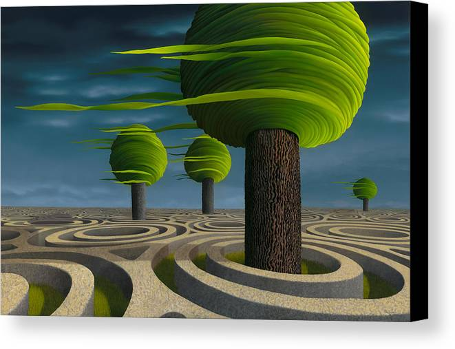 Tree Canvas Print featuring the painting Tilia Arbora by Patricia Van Lubeck