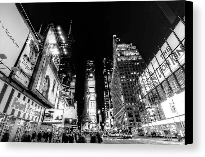 Times Square Canvas Print featuring the photograph Times Square Don't Shine As Bright As You by Ariane Moshayedi