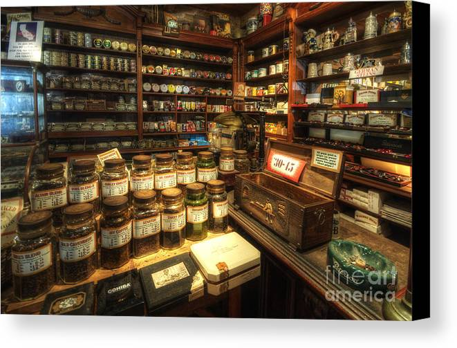 Art Canvas Print featuring the photograph Tobacco Jars by Yhun Suarez