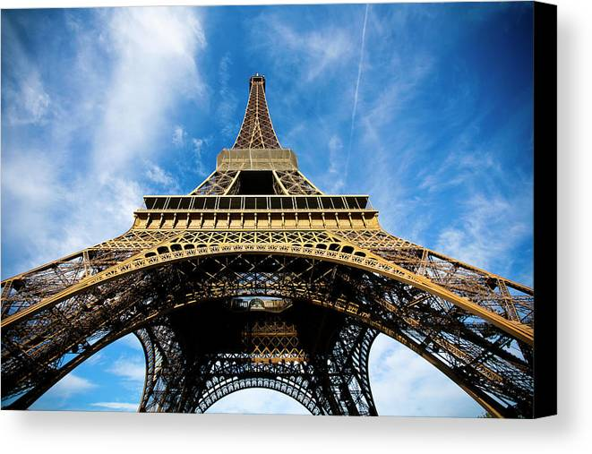 Horizontal Canvas Print featuring the photograph Torre Eiffel - Tour Eiffel - Eiffel Tower by Ruy Barbosa Pinto