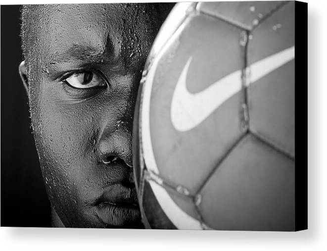 Soccer Canvas Print featuring the photograph Tough Like A Nike Ball by Val Black Russian Tourchin