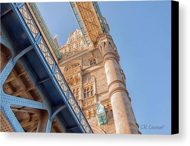 Tower Bridge Canvas Print featuring the photograph Tower Bridge Perspective by CR Courson
