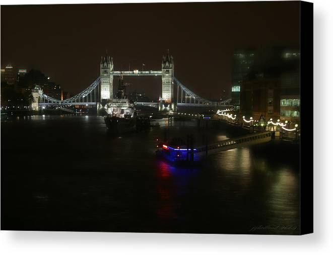 London Canvas Print featuring the photograph Tower Over The Thymes by Joseph G Holland