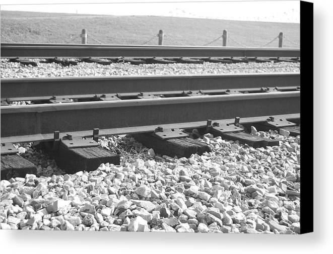 Train Canvas Print featuring the photograph Tracks by Jessa DeNuit