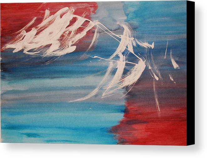 Tranquility Canvas Print featuring the painting Tranquilidad 2 by Lauren Luna