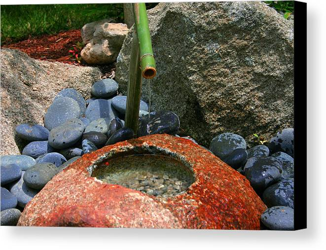 Japanese Garden Canvas Print featuring the photograph Tranquility1 by Charles Warren
