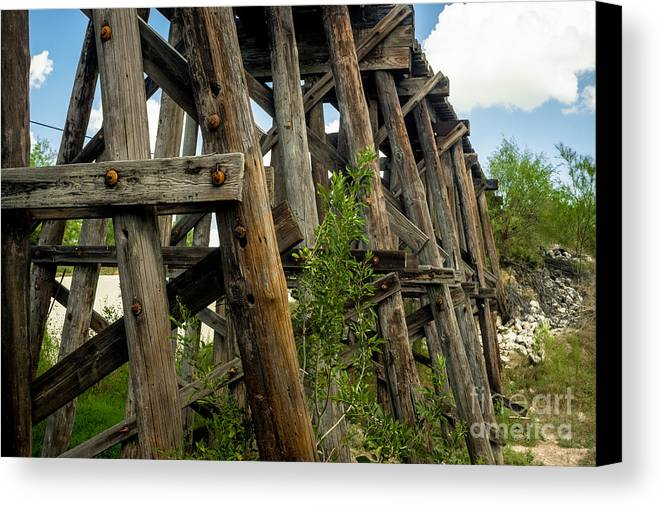 Trestle Timber Canvas Print featuring the photograph Trestle Timber by Imagery by Charly