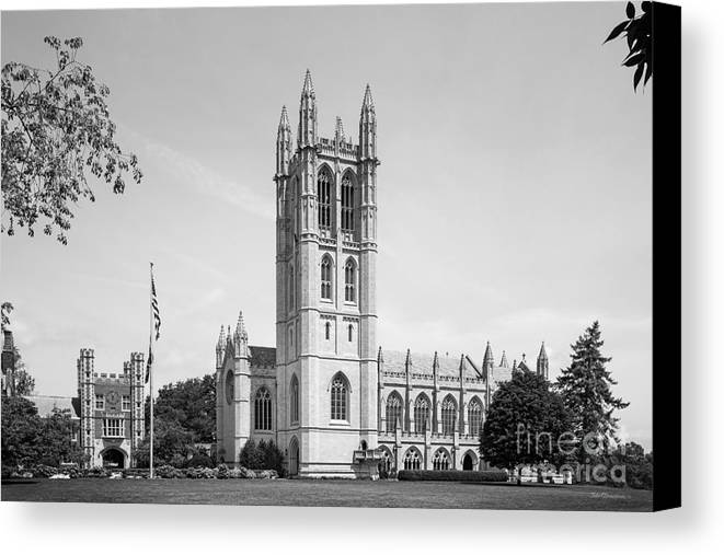 Downes Memorial Canvas Print featuring the photograph Trinity College Chapel by University Icons