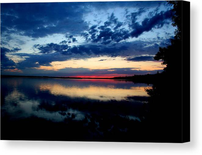 Sunsets Canvas Print featuring the photograph True North by Taylor Howe