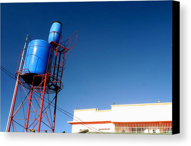 Photographer Canvas Print featuring the photograph Tubig Tower 3 by Jez C Self