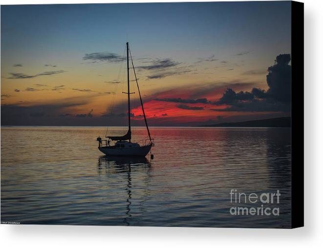 Twilight Fire Canvas Print featuring the photograph Twilight Fire by Mitch Shindelbower