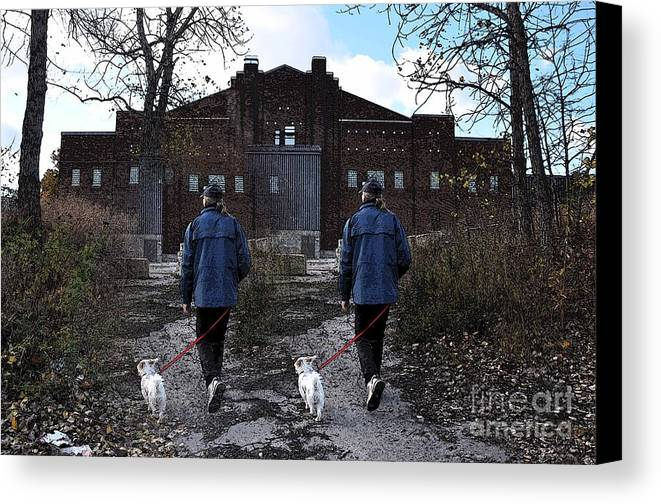 Walking Canvas Print featuring the photograph Two Paths by Reb Frost