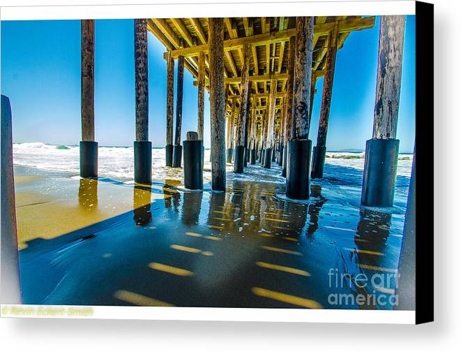Pier Canvas Print featuring the photograph Under The Pier by Kevin Eckert Smith