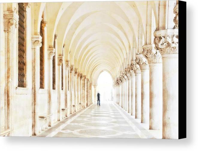 Venice Canvas Print featuring the photograph Underneath The Arches by Marion Galt