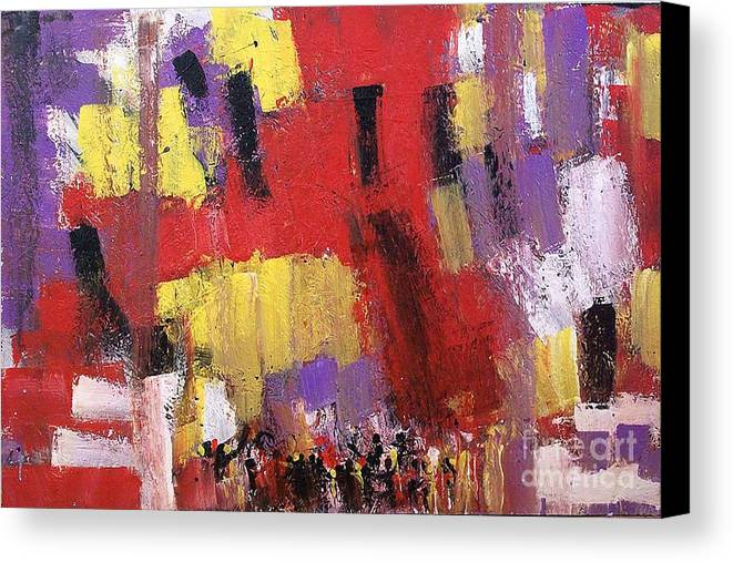 Abstract Canvas Print featuring the painting Unity by Esther Jones