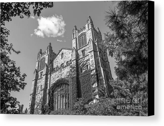Ann Arbor Canvas Print featuring the photograph University Of Michigan Law Library by University Icons
