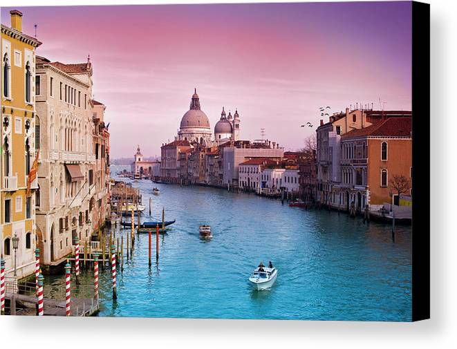 Horizontal Canvas Print featuring the photograph Venice Canale Grande Italy by Dominic Kamp Photography