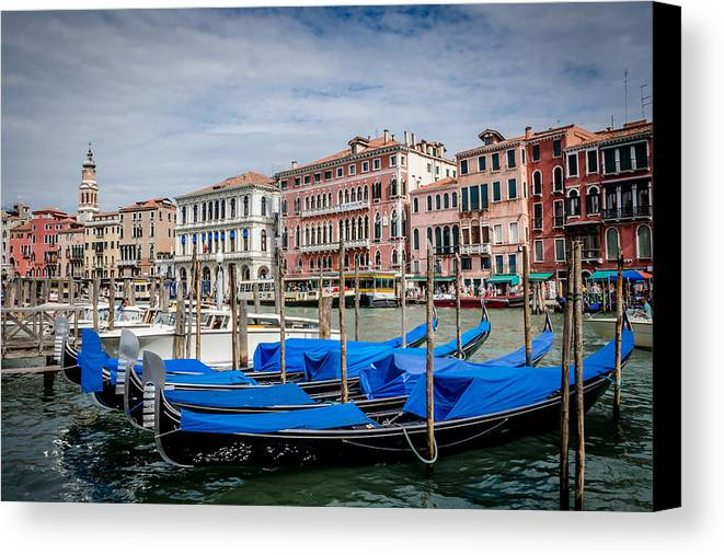 Boat Canvas Print featuring the photograph Venice by Phil Scarlett
