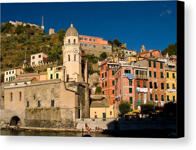 Italy Canvas Print featuring the photograph Vernazza by Carl Jackson