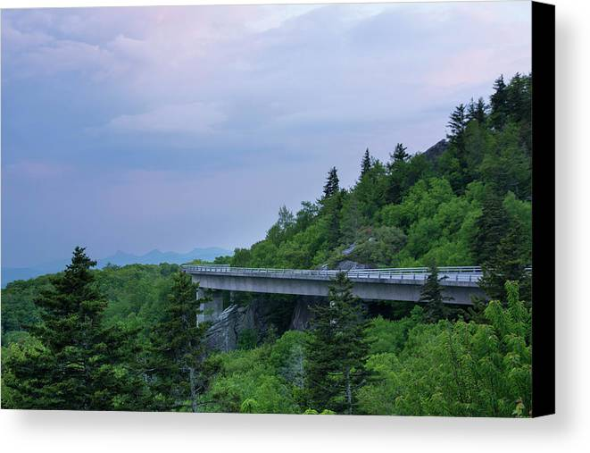 Canvas Print featuring the photograph Viaduct At Sunset by Sallie Woodring
