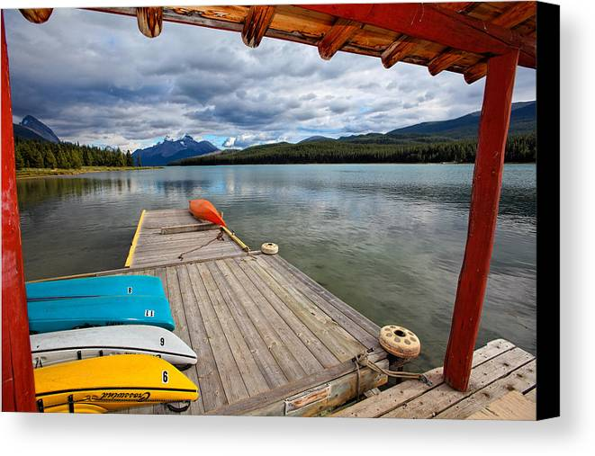 Boathouse Canvas Print featuring the photograph View From A Boathouse by George Oze