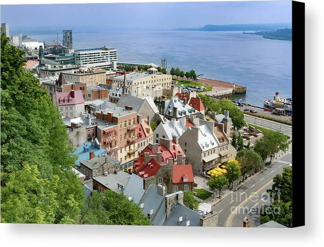 Wall Canvas Print featuring the photograph View From The Wall by Judy Tomlinson
