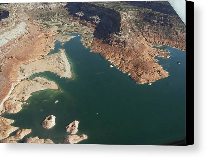 Lake Canvas Print featuring the photograph View Of Lake Powell by Carl Purcell