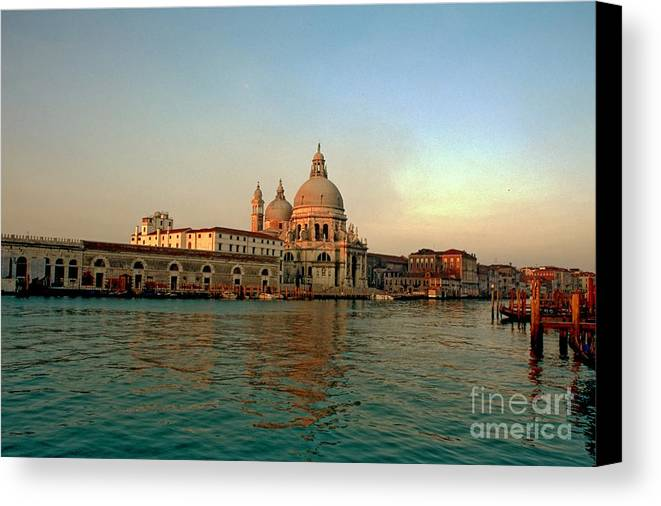 Venice Canvas Print featuring the photograph View Of Santa Maria Della Salute On Grand Canal In Venice by Michael Henderson