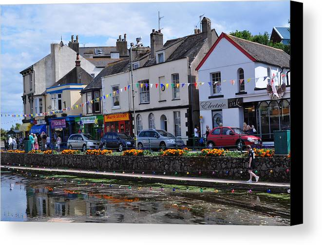 Landscape Canvas Print featuring the photograph Village Of Dawlish by Andrea Everhard