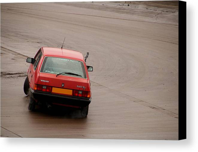 Volvo Canvas Print featuring the photograph Volvo 340 Drift by Perggals - Stacey Turner