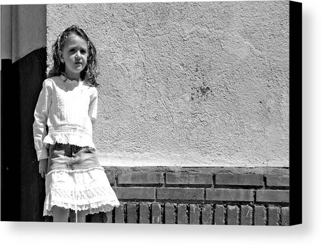Photographer Canvas Print featuring the photograph Waiting For My Chums by Jez C Self