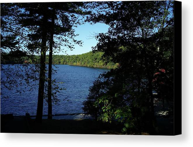Walden Canvas Print featuring the photograph Walden Pond End Of Summer by Lawrence Christopher