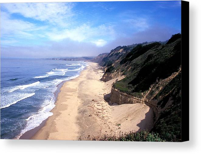 Ocean Canvas Print featuring the photograph Water Color Sky by Kathy Yates