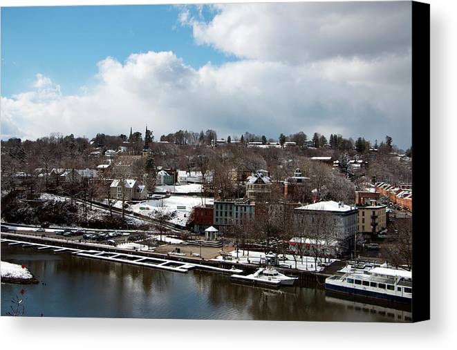 City Canvas Print featuring the photograph Waterfront After The Storm by Jeff Severson