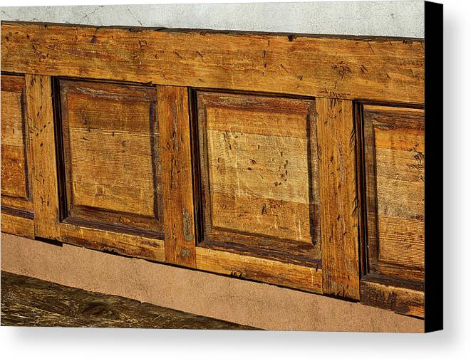 Santa Fe Canvas Print featuring the photograph Weathered Bench - Santa Fe #2 by Stuart Litoff
