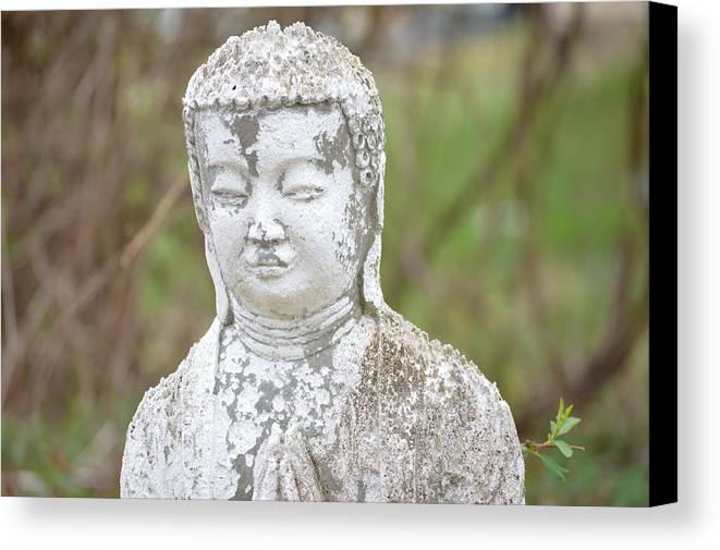 Buddha Canvas Print featuring the photograph Weathered Buddha Statue by Marla McPherson