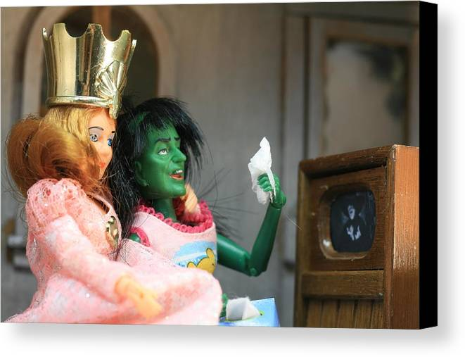 Wizard Of Oz Canvas Print featuring the photograph What Friends Are For by Susie DeZarn