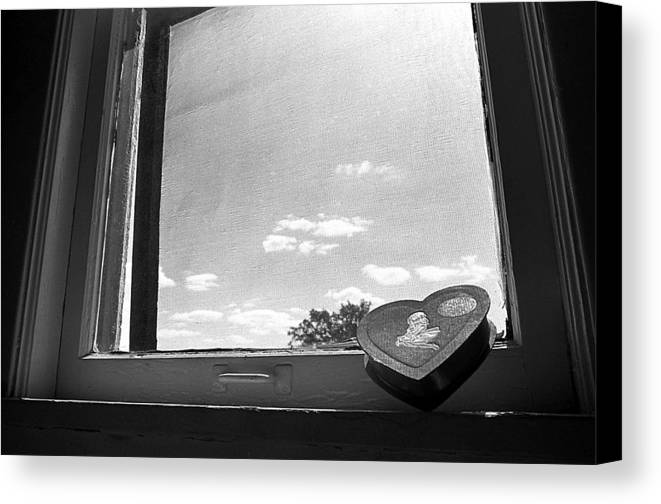 Window Canvas Print featuring the photograph What Remains by Ted M Tubbs